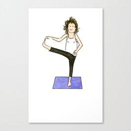 Yoga Folks. Balancing Pose.   Canvas Print
