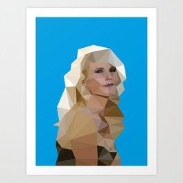 Cyan Blonde Art Print