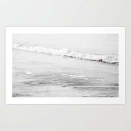 Monochrome Beach Art Print