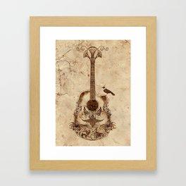 The Guitar's Song Framed Art Print
