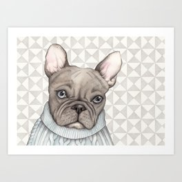 French style - French Bulldog Art Print