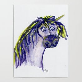 Purple Unicorn Poster