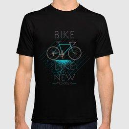 Bike like a new yorker T-shirt