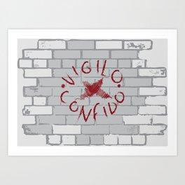 Vigilo Graffito Art Print