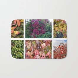 Autumn Leaves Photo Collage Bath Mat
