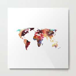 Colorful World Metal Print