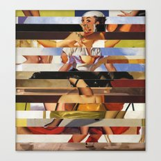 Glitch Pin-Up Redux: Heather Canvas Print