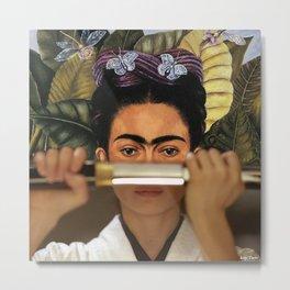 Kill Bill's O-Ren Ishii & Frida Kahlo's Self Portrait Metal Print