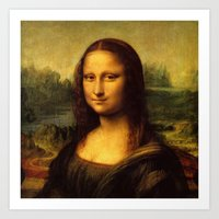 mona lisa Art Prints featuring Mona Lisa by Color and Patterns