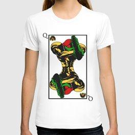 samus playing card queen T-shirt