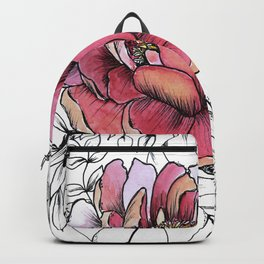 Painted Peony Garden Backpack