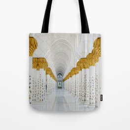 Down the golden white Tote Bag
