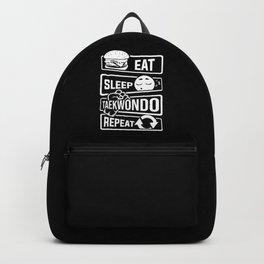 Eat Sleep Taekwondo Repeat - Martial Arts Backpack