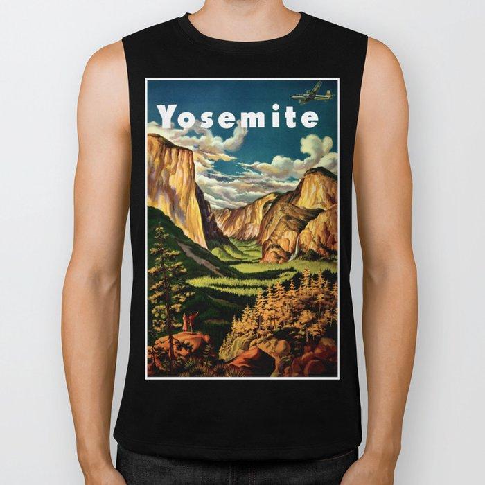 Yosemite National Park - Vintage Travel Biker Tank
