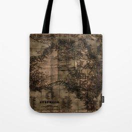 Vintage Map of Australia Tote Bag