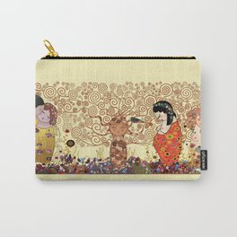 Kokeshis Klimt Carry-All Pouch