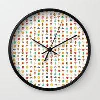 kawaii Wall Clocks featuring Kawaii by heidi kenney