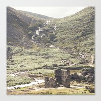 castle in the sky Canvas Prints featuring castle by January Studio