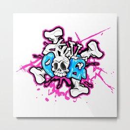 Skull Pops Metal Print