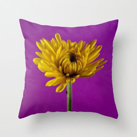 Grape and Lemon Throw Pillow