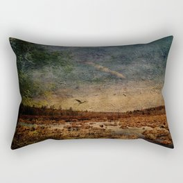 Heron in the Marshes Rectangular Pillow