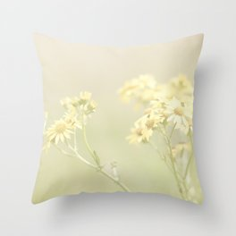 A Field of Yellow Flowers Throw Pillow