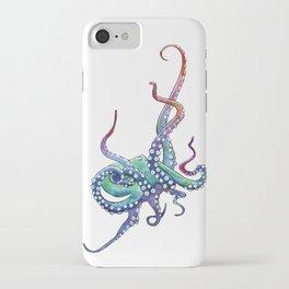 Rainbow Octopus iPhone Case