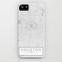 Houston Map - Black and White (Light) iPhone Case