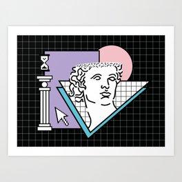Apollo Vaporwave / greek god Art Print