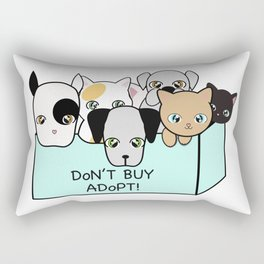 Adopt, don't shop! Rectangular Pillow