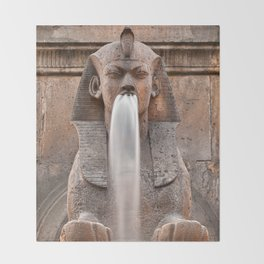 Sphinx Fountain Throw Blanket