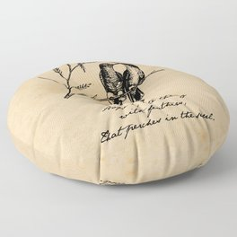 Emily Dickinson - Hope is the Thing with Feathers Floor Pillow