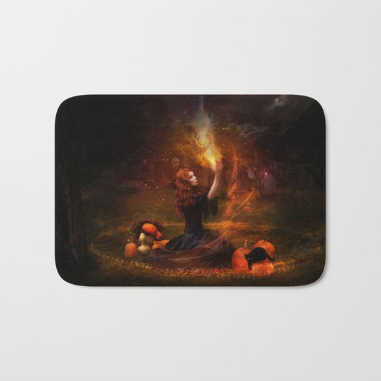 The Witch Fantasy Mystic Scene  Bath Mat