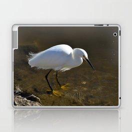 Snowy Egret with Catch Laptop & iPad Skin