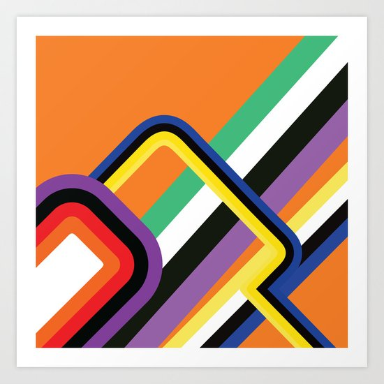 60s Geometric Shapes Art Print