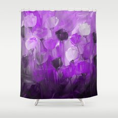 Rose Garden in Shades of Purple Shower Curtain