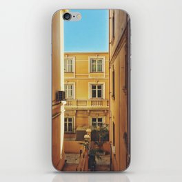 Back alley on the streets of Monaco iPhone Skin