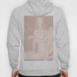 Abstract Woman Figure Hoody