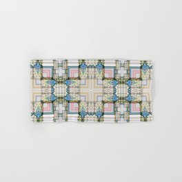 Multi Tiled Pastel Pattern Abstract Hand & Bath Towel