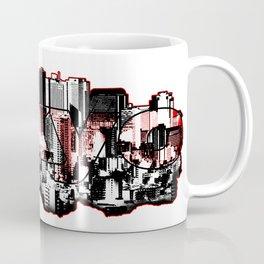 Tokyo skyline with Mount Fuji silhouette Coffee Mug