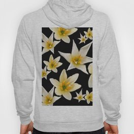 White flowers with pattern Hoody