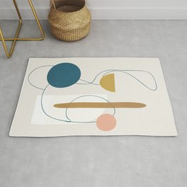 Free Abstract Shapes II Rug