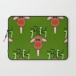 Christmas Reindeer Green Laptop Sleeve