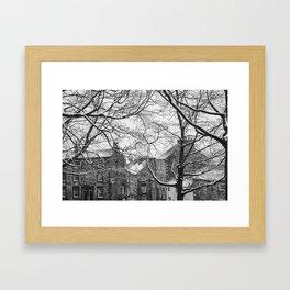 Winter Scenic of Castle Street, Lancaster. Framed Art Print