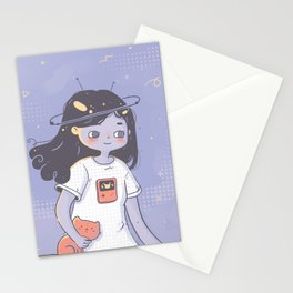 Space Girl Stationery Cards