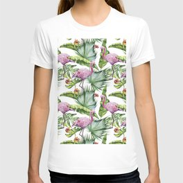 Flamingo Jungle #society6 #buyart T-shirt