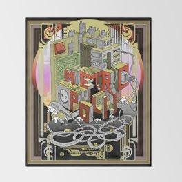 Metropolis  Throw Blanket