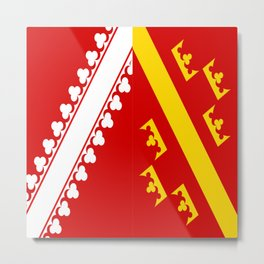 flag of alsace Metal Print
