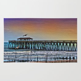 Myrtle Beach State Park Pier - Photo as Digital Paint Rug