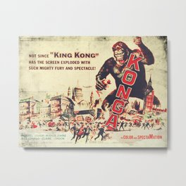 Konga - Retro Movie Metal Print